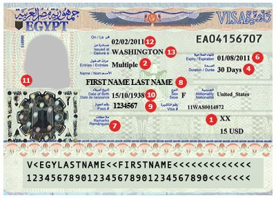 View Samples Of Actual Travel Visas Visacentral